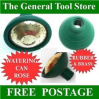 QUALITY TRADITIONAL BRASS AND RUBBER WATERING CAN ROSE UNIVERSAL FITMENT